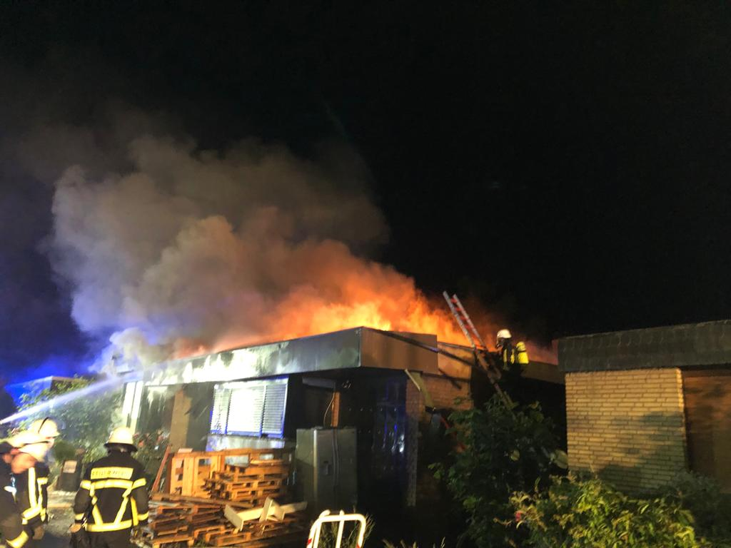Brand eines Wohnhauses in Vinn